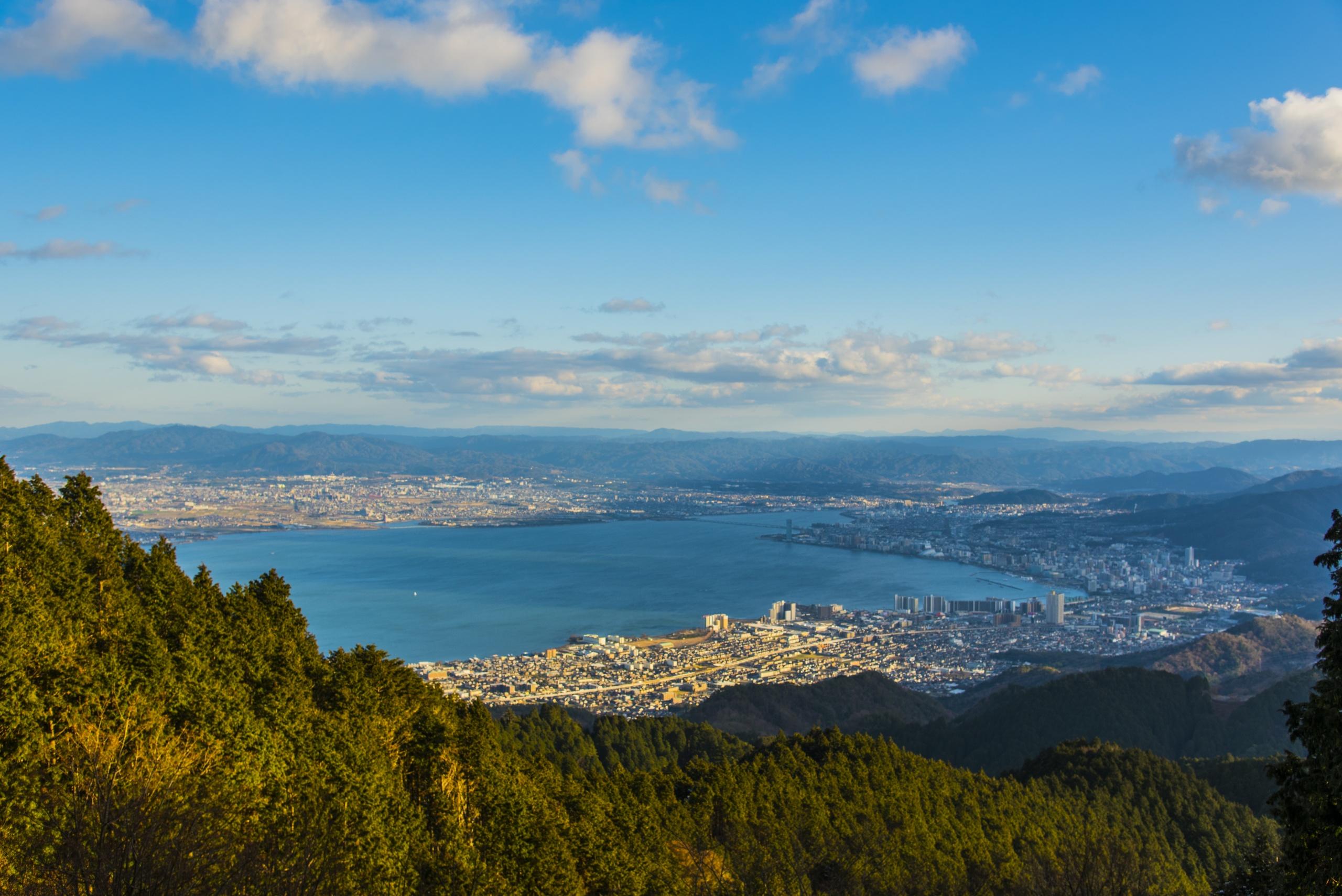 比叡山から琵琶湖眺望