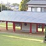 長岡京朝堂院跡復元